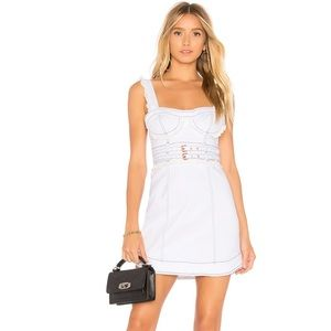 For Love and Lemons NWT White Daria Denim Dress